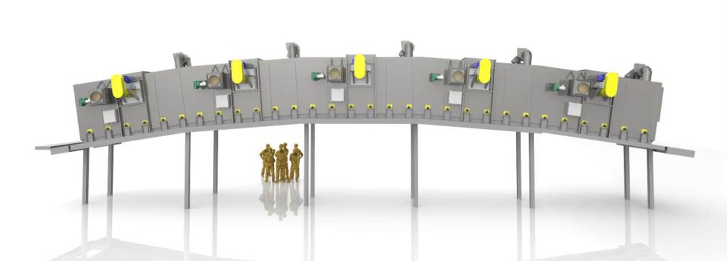indutrial oven model side